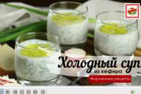 Готовим холодный суп на кефире ТМ ЕРМОЛИНО!