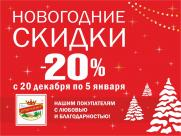 Новогодние скидки во всех магазинах «ПРОДУКТЫ ЕРМОЛИНО»!