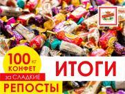 Подводим итоги акции «100 кг конфет за сладкие репосты»!