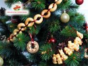 Украшаем новогоднюю ёлку: сладкая гирлянда.