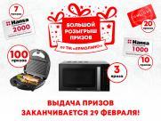 Выдача призов по акции «Большой розыгрыш от ТМ ЕМОЛИНО» заканчивается 29 февраля!